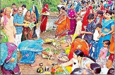 Chhath Puja in artificial lake