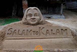 Abdul Kalam Sand Sculpture