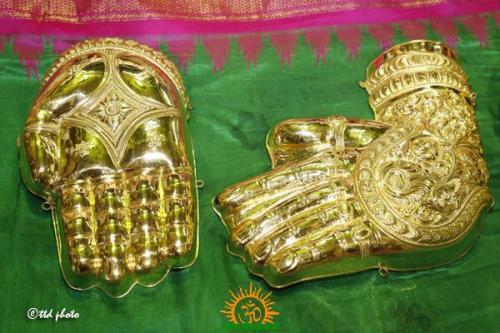 Kati varada hasthams of srinivasa mangapuram temple