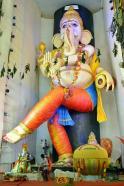 63 feet tallest eco friendly Clay ganesha idol at VIjayawada