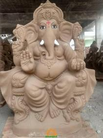 Clay Ganesha idol 5