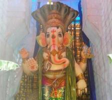 108-feet Ganesh at Vizag MVP Colony 13