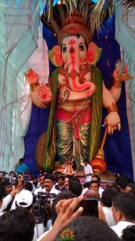 108-feet Ganesh at Vizag MVP Colony 7