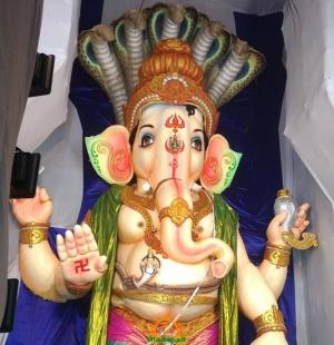 108-feet Ganesh at Vizag MVP Colony 9