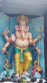 72-feet Ganapathi idol 2016 1 at Vijayawada Tallest