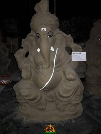Clay Ganesha 4 feet