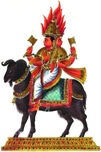 Agni deva on Goat vehicle
