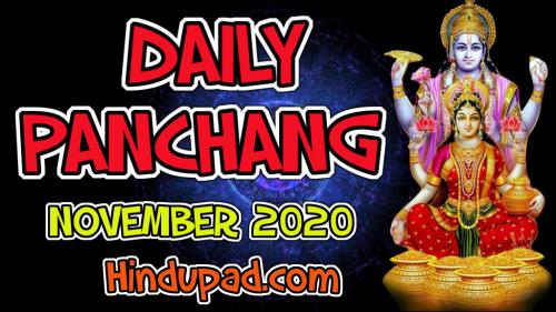 Daily Panchang November 2020 Hindupad