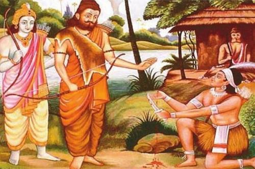 Ekalavya Paying Gurudakshina to Dhrona