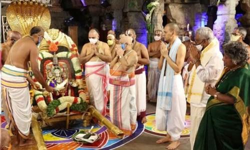 Pallaki Seva at TTD Temple