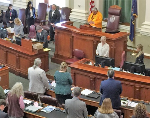 Reading invocation at Maine House of Representatives_ June three, 2019.