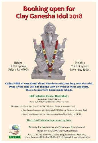 SAVE eco-friendly Clay Ganesh idols 2018 no-watermark