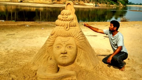 Shivaratri Sand Sculpture 2019 no-watermark