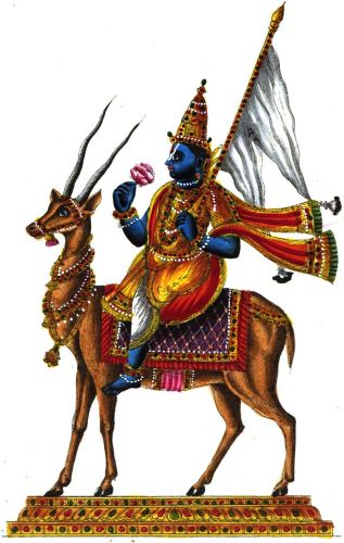 Vayu Deva on Deer vehicle