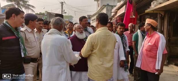 सैय्यद महमूद अशरफ ने बायसी मे NDA कार्यकर्ताओं के साथ किया जनसंपर्क