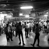 Waiting at a train station in mumbai