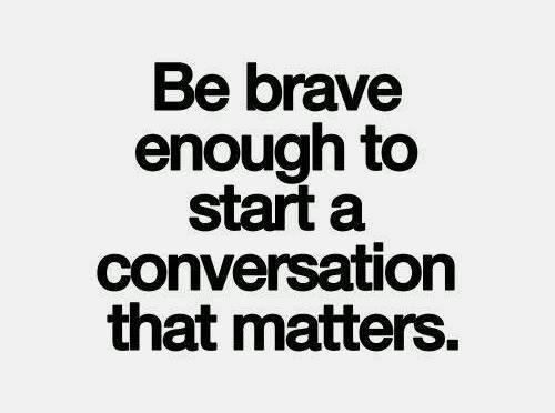 A conversation that matters