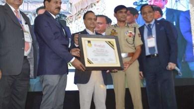 Mr Vijay Kumar Inspector General of Police Kashmir honoured with a Certificate of Fellowship