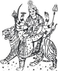 Pictures Of Durga Maa To Draw