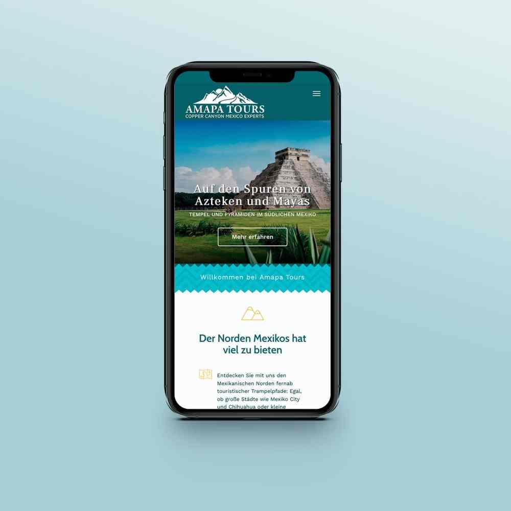 Webdesign Reiseveranstalter Smartphone