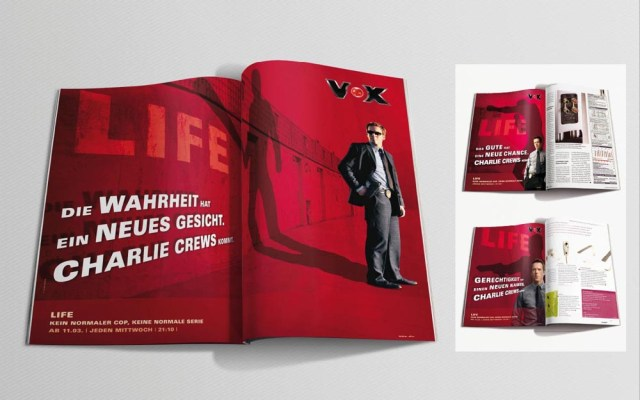 Anzeigenkampagne für die Crime-Serie Life //entstanden bei der Sixpack Werbeagentur // Mein Part // Art Direction: Idee und Entwicklung