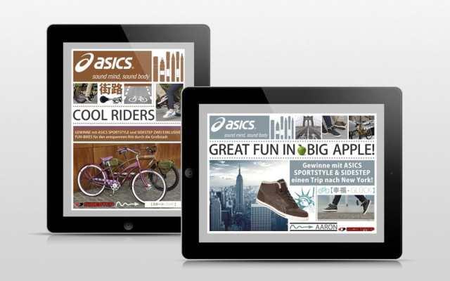 Ipad mit Asics Gewinnspiel Big Apple