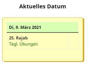 Kal - Aktuelles Datum