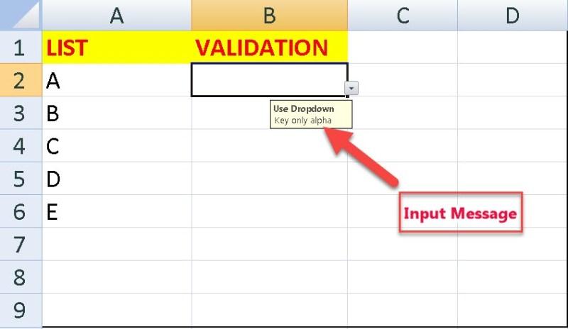 Data Validation List