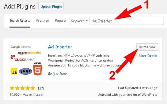 Wordpress Me Ad Inserter Plugins Ka Use Kaise Kare