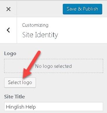 WordPress Blog Par Logo Upload