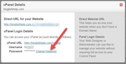 CPanel Password Change or Reset