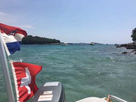 Ausblick aus dem Schlauchboot.