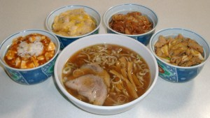 三日月食堂 さといも麺とミニ丼セット
