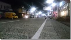 五泉駅前2月夜