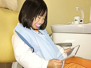 フッ素塗布 女の子 iPad