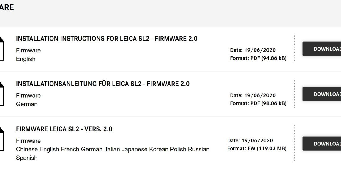 SL2 firmware page
