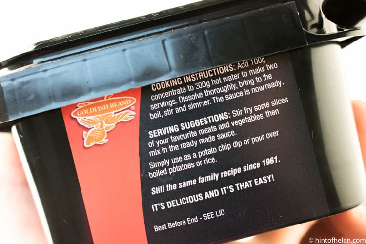 Goldfish Chinese Hot And Spicy Curry Sauce Cooking Instructions Review | Hint of Helen