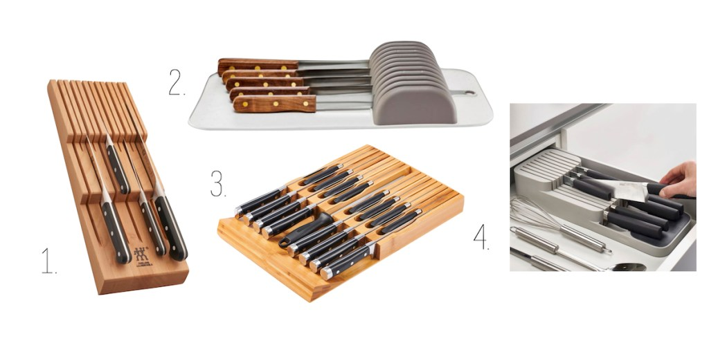 knife block organizers bed bath and beyond and amazon