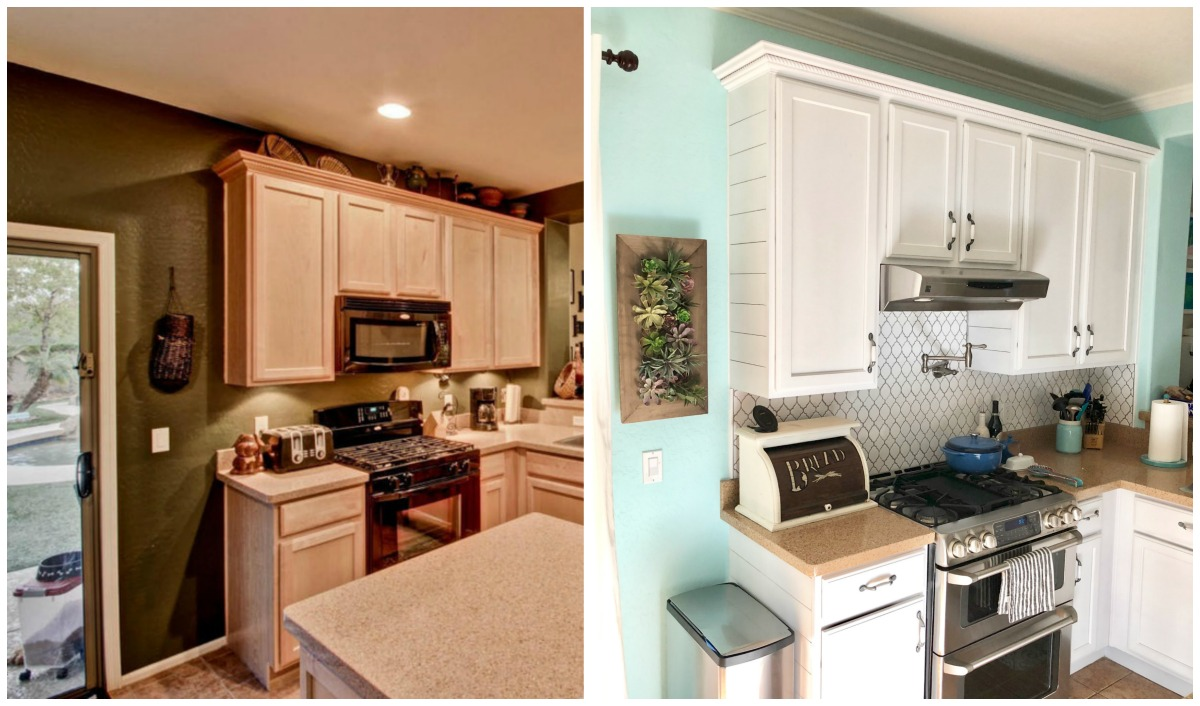 two kitchens side by side comparison