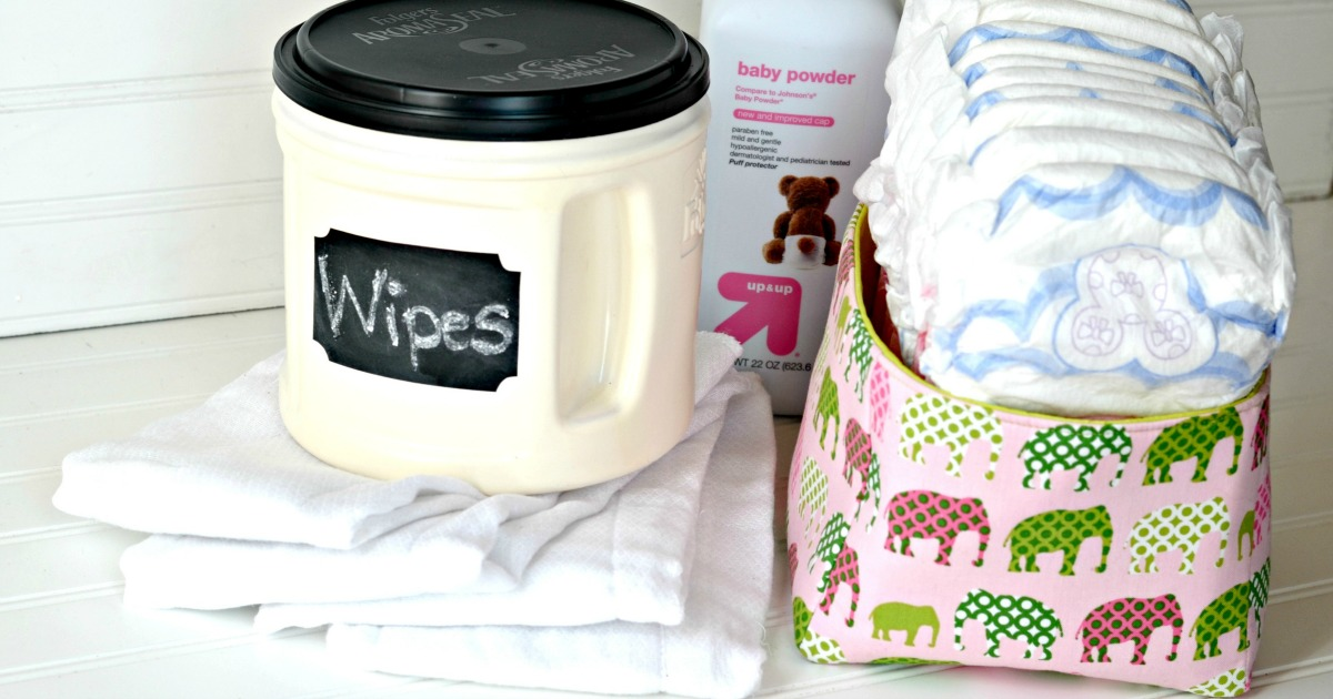reusing a coffee can for diaper wipes