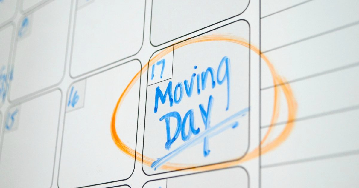 moving day circled on a calendar