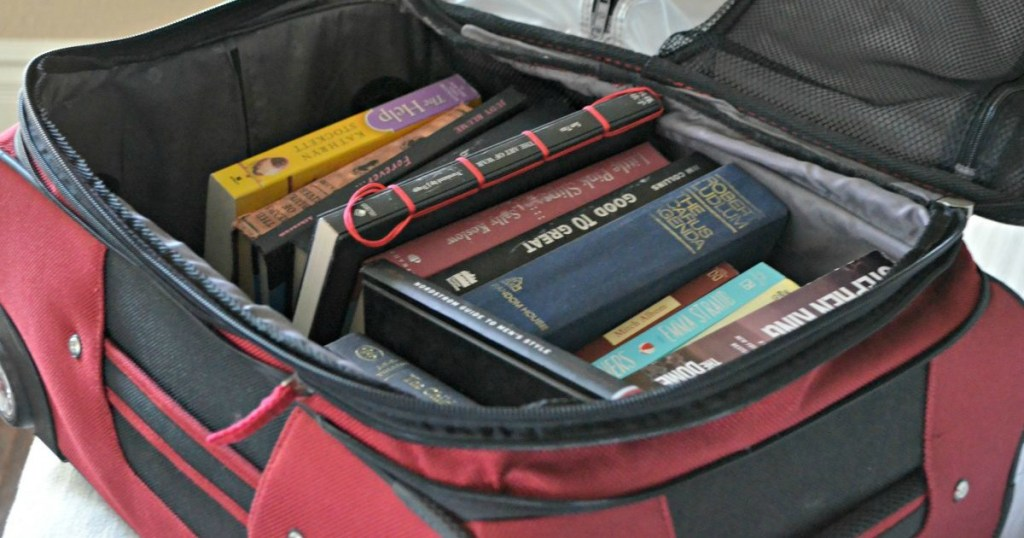 use an empty suitcase for moving heavy items