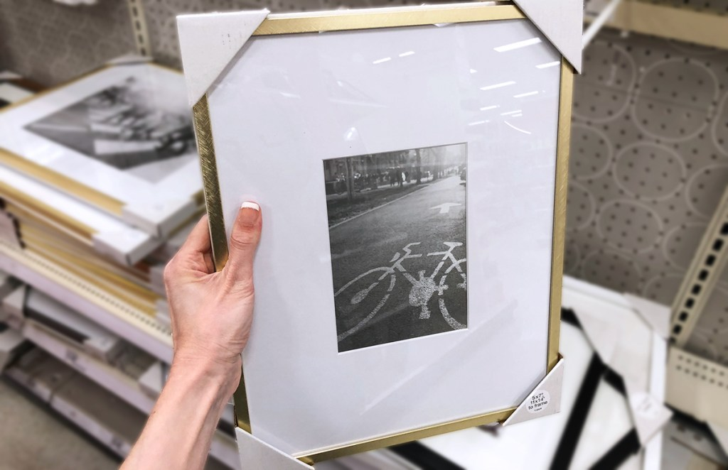 target accent pieces — brass frame picture frame