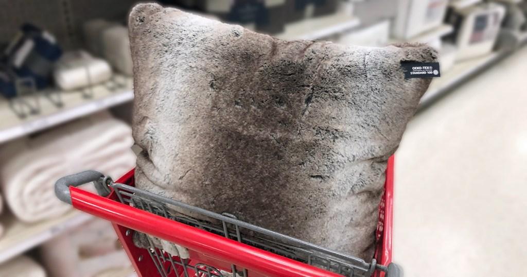 target pillows — faux fur natural look pillow