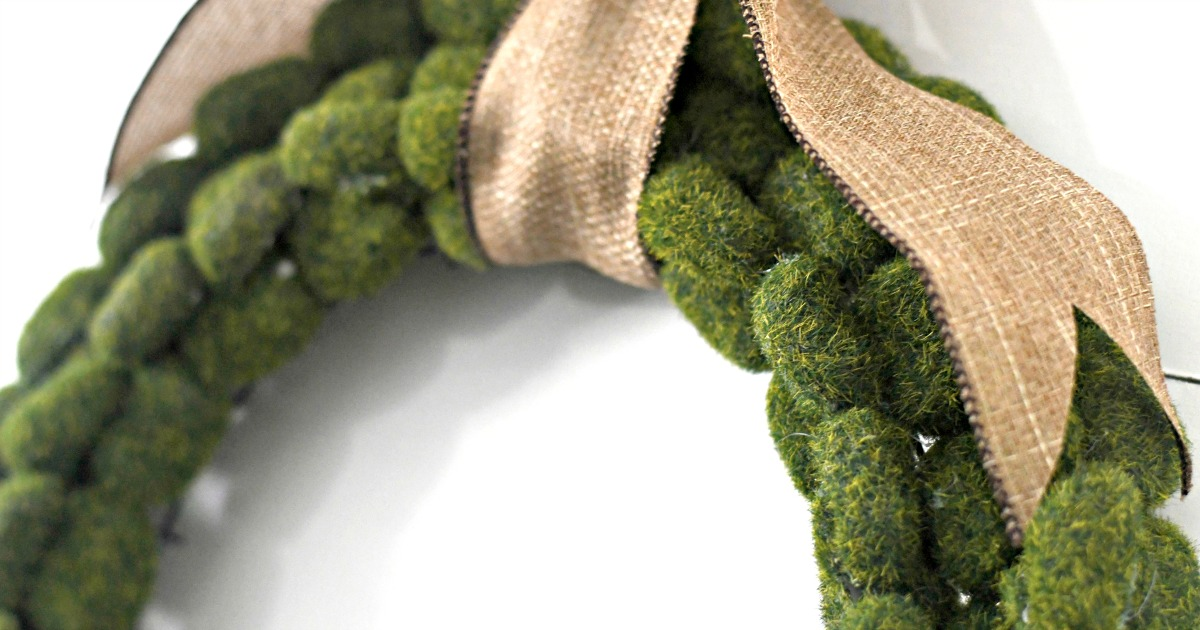 DIY Dollar Tree moss wreath