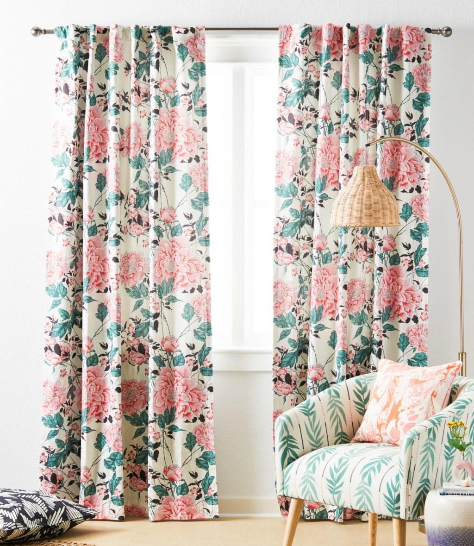 Vintage Floral Panel Pair