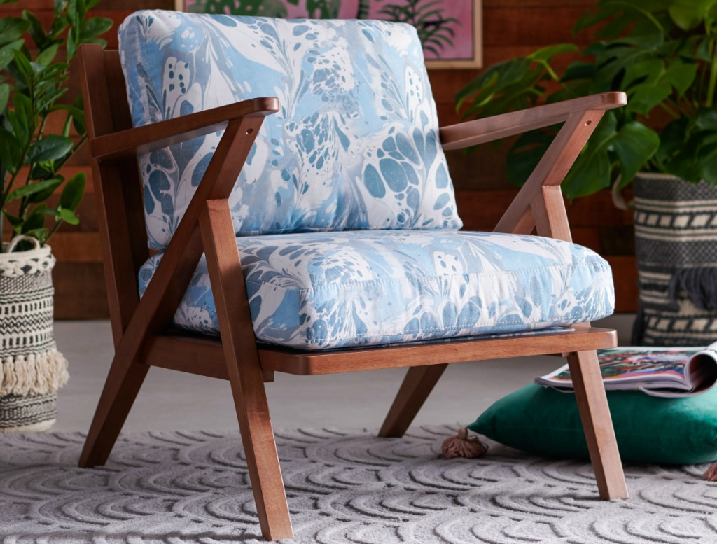 Vintage Marble Mid-Century Accent Chair