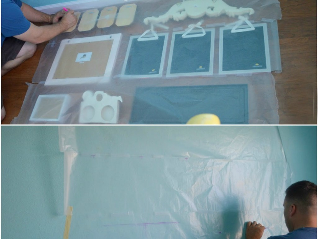 making a wax paper template for hanging a gallery wall