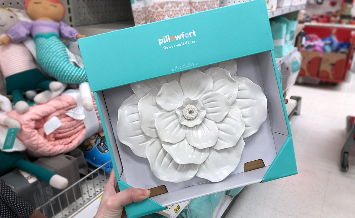 grown up Pillowfort items — white ceramic wall accent