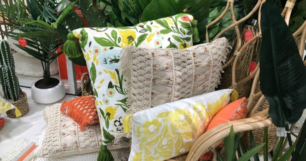 outdoor throw pillows at target